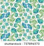 seamless vector floral pattern...   Shutterstock .eps vector #737896573
