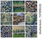 drone view collection   Shutterstock . vector #737898133