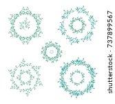 set of vector rounded frames... | Shutterstock .eps vector #737899567