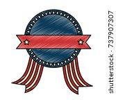 united states of america emblem ... | Shutterstock .eps vector #737907307