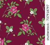 seamless floral pattern with...   Shutterstock .eps vector #737918797