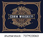 whiskey design for label and... | Shutterstock .eps vector #737923063