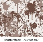 seamless paint splatter pattern ...   Shutterstock .eps vector #737935507