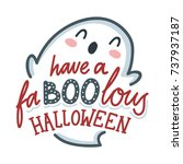 cute decoration for halloween... | Shutterstock .eps vector #737937187