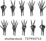 skeleton hands counting gestures