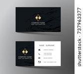 modern business card template... | Shutterstock .eps vector #737963377