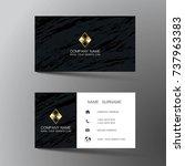 modern business card template... | Shutterstock .eps vector #737963383