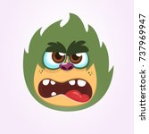 cartoon angry monster.vector... | Shutterstock .eps vector #737969947