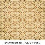 retro brown watercolor texture... | Shutterstock .eps vector #737974453