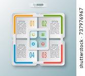 vector abstract 3d paper... | Shutterstock .eps vector #737976967