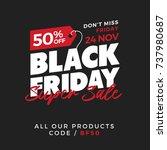 50  off black friday super sale ... | Shutterstock .eps vector #737980687