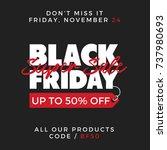 50  off black friday super sale ... | Shutterstock .eps vector #737980693