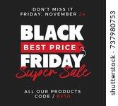 50  off black friday super sale ... | Shutterstock .eps vector #737980753