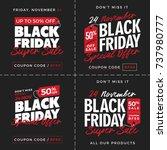 50  off black friday super sale ... | Shutterstock .eps vector #737980777