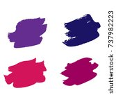set of hand painted colorful... | Shutterstock .eps vector #737982223