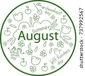 the month of august. holiday... | Shutterstock .eps vector #737992567