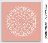 mandala decoration  geometric... | Shutterstock .eps vector #737996863