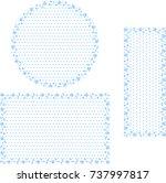 snow crystal frame set | Shutterstock .eps vector #737997817