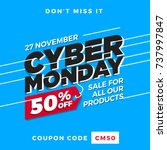 cyber monday super sale. up to... | Shutterstock .eps vector #737997847