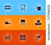 set of 9 dentist icons set... | Shutterstock .eps vector #737998333
