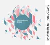 minimalist design  creative... | Shutterstock .eps vector #738006343