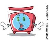 money eye scale character... | Shutterstock .eps vector #738009337