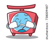 crying scale character cartoon... | Shutterstock .eps vector #738009487