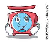 smirking scale character... | Shutterstock .eps vector #738009547