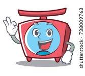 okay scale character cartoon... | Shutterstock .eps vector #738009763