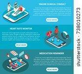 online medical services vector... | Shutterstock .eps vector #738010273