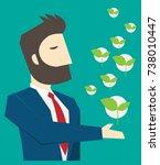 businessman character cartoon... | Shutterstock .eps vector #738010447