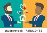 businessman character cartoon... | Shutterstock .eps vector #738010453