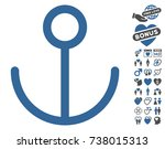 anchor pictograph with bonus... | Shutterstock .eps vector #738015313