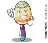 thumbs up maracas character... | Shutterstock .eps vector #738015613