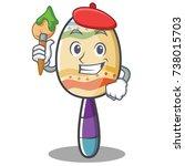 artist maracas character... | Shutterstock .eps vector #738015703