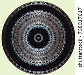 round ornament oriental... | Shutterstock .eps vector #738017617