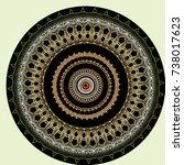 round ornament oriental... | Shutterstock .eps vector #738017623