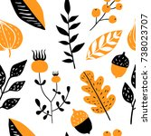 vector seamless pattern with... | Shutterstock .eps vector #738023707