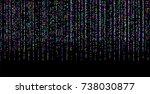 colored small confetti on a... | Shutterstock .eps vector #738030877