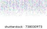 colored small confetti on a... | Shutterstock .eps vector #738030973
