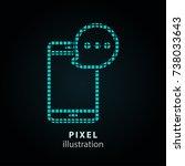 sms   pixel icon. vector... | Shutterstock .eps vector #738033643