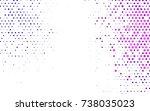 dark purple vector red banner... | Shutterstock .eps vector #738035023