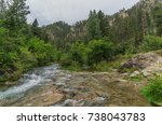spearfish canyon in the black... | Shutterstock . vector #738043783