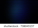dark blue vector red pattern of ... | Shutterstock .eps vector #738045157