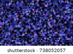 dark pink  blue vector blurry... | Shutterstock .eps vector #738052057