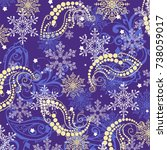 winter violet | Shutterstock .eps vector #738059017