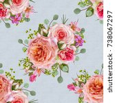 floral seamless pattern. flower ... | Shutterstock . vector #738067297
