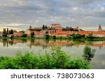 ptuj  on the drava river  and... | Shutterstock . vector #738073063