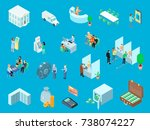 bank set of isometric icons... | Shutterstock .eps vector #738074227