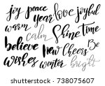 set of merry christmas and... | Shutterstock .eps vector #738075607